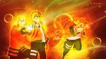 Boruto and Naruto Uzumaki Legacy by Zuzako