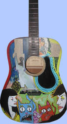Commissioned Guitar by Raskha