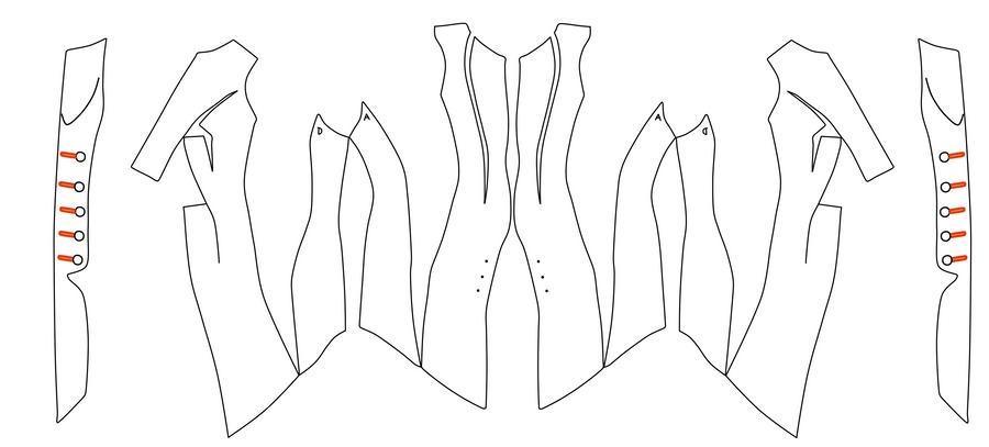 ACIII Liberation - Aveline s coat pattern by Franky-bizarro