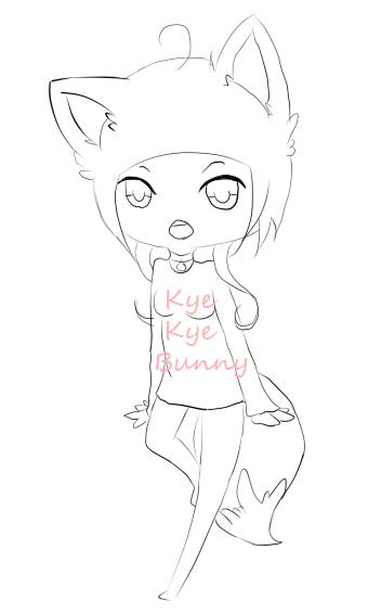 Fox Girl by KyeKyeBunny