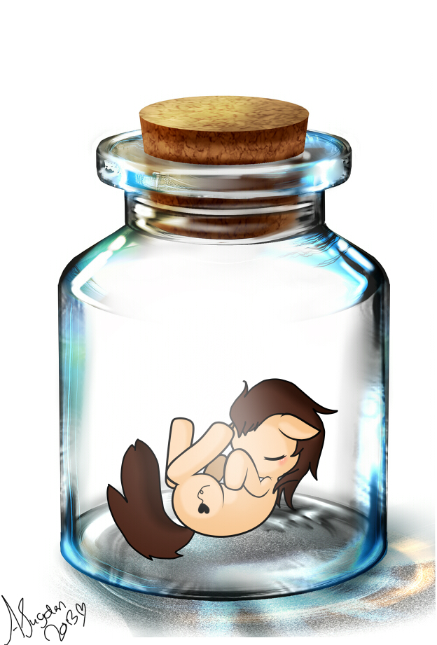 Pony in a jar by KyeKyeBunny