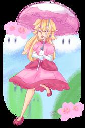 Super Mario: Pastel Peachy by SuperFlandreBros