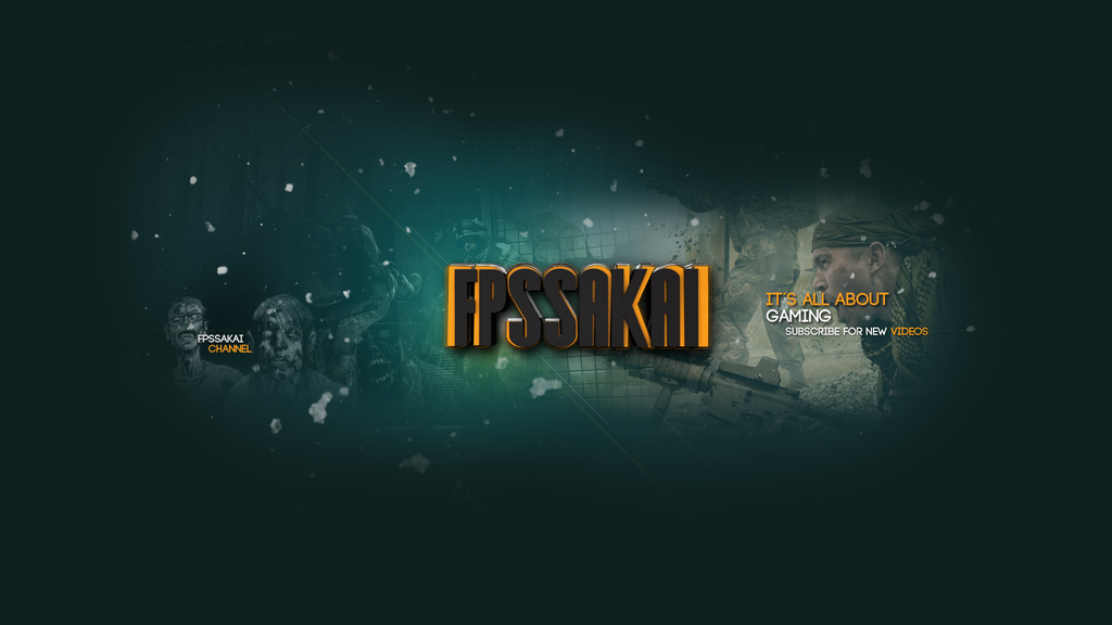 Gaming youtube banners template new youtube layout fpssakai