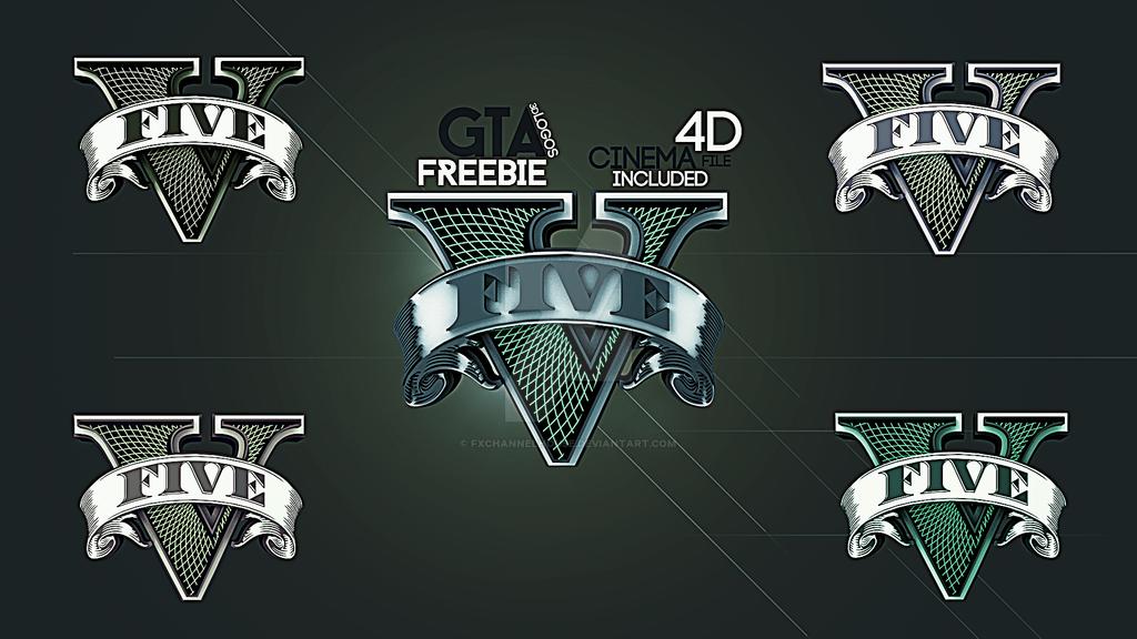 GTA V - NEW logos - 5 logos and 3d file by fxchannelhouse