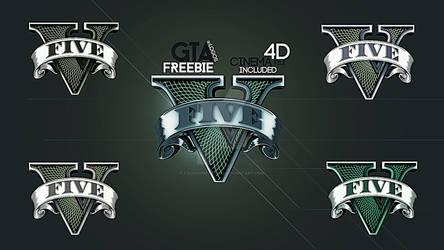 GTA V - NEW logos - 5 logos and 3d file