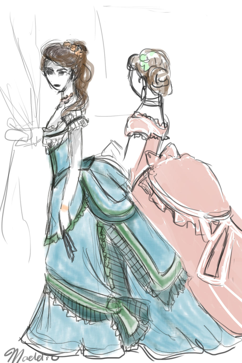 anime victorian dresses