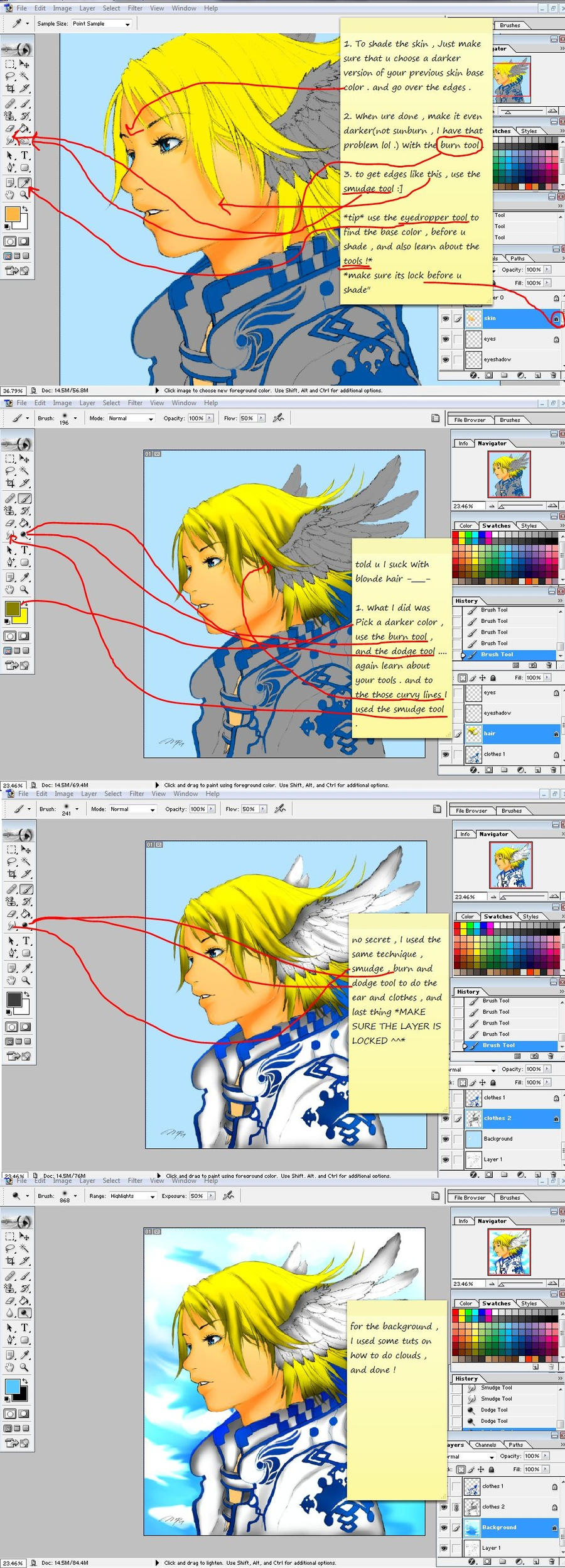 How to Shade With Photoshop by nejean