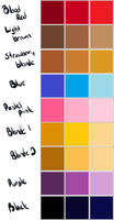 Hair color palette by poowulpi