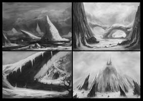 4 snow scenery - practice by DeaDerV23