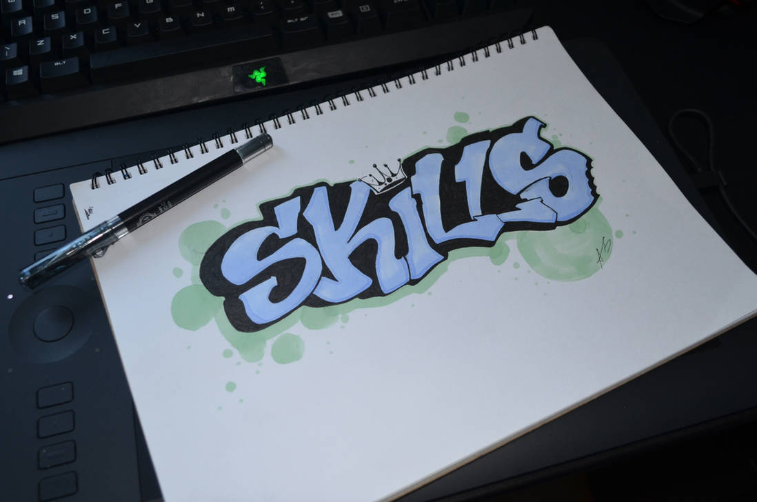 Skills - Graffiti doodle by DeaDerV23