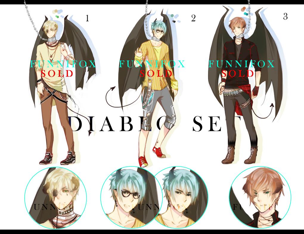 Male Adopts: Diablo Set CLOSED- by Ahniki