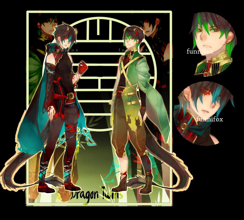 (CLOSED) Dragon Twins Adopt by Ahniki