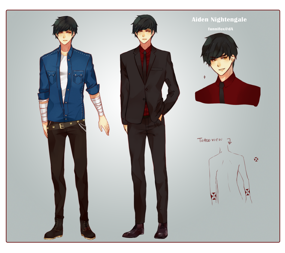Aiden Reference sheet by Ahniki