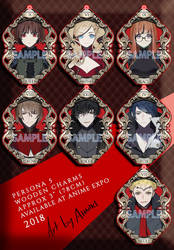 Persona 5 Wooden Charms for AnimeExpo 2018 by Ahniki