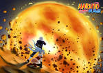 Kakashi and Mina Fire ball Fight [Protecting her]