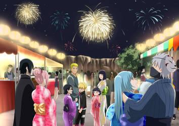 Boruto Naruto New year 2018 by Pungpp