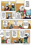 NARUTO MANGA COLOR: KAKASHI x MINA SHE IS DRUNK 1 by Pungpp