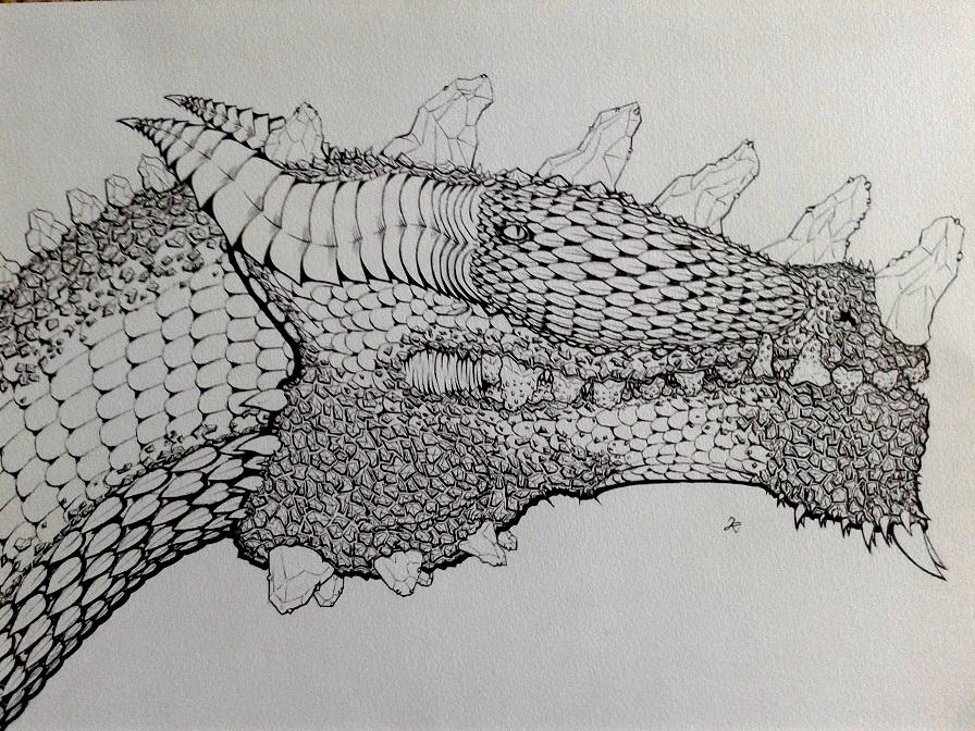 The Line Art Challenge Sketches For Days : Days drawing challenge petra devorus magnus by kokorvesa on