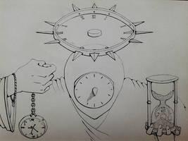 7 days drawing challenge - Time by Kokorvesa
