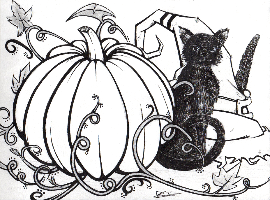 Doodle 6 - Halloween by Kokorvesa
