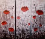 Triptych poppies