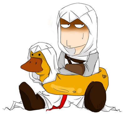 Altair and Mister Duck