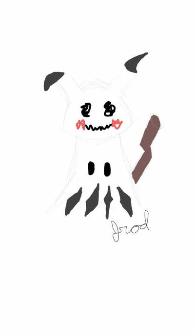 Quick Sketch - Mimikyu  by jrodicon