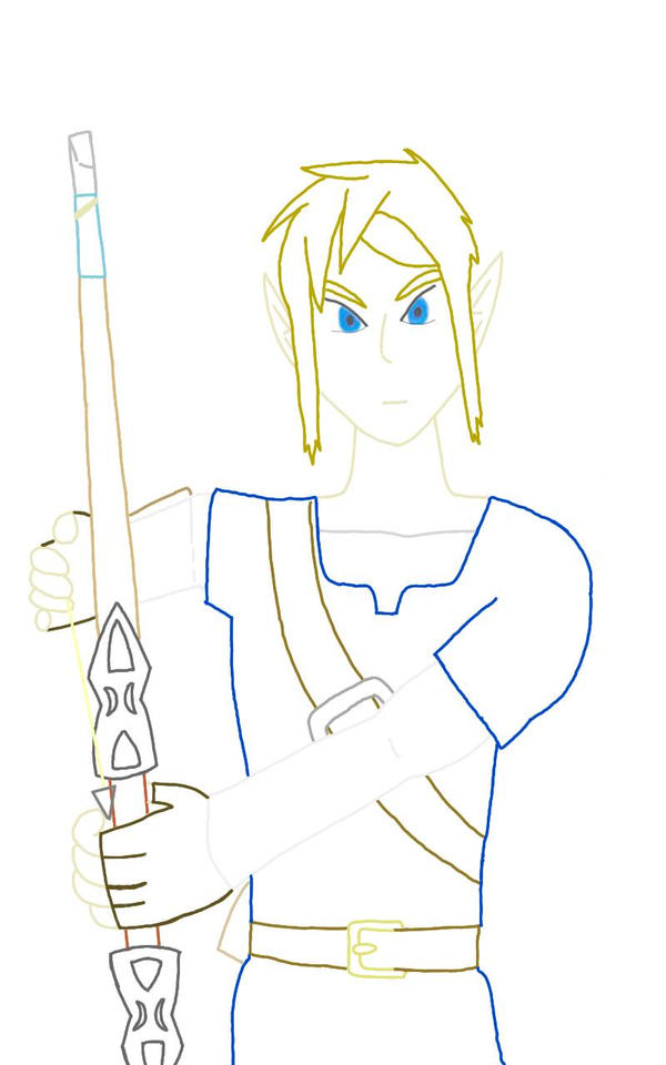 BotW Link Lineart  by jrodicon