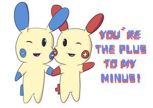 Plusle and Minun Valentine