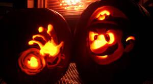 Super Mario Pumpkin by GameCubed6186