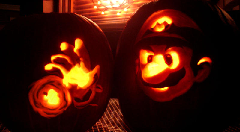 Super Mario Pumpkin by GameCubed6186