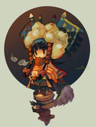 steamed stuffed bun girl by coocooon
