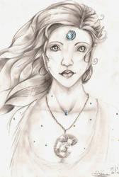 Aquamarine Elf 1 by DivianaAjatar