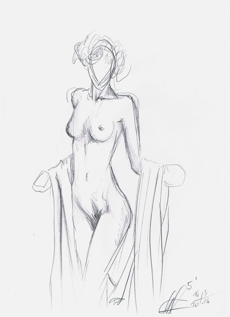 nude sketch 3 by DivianaAjatar