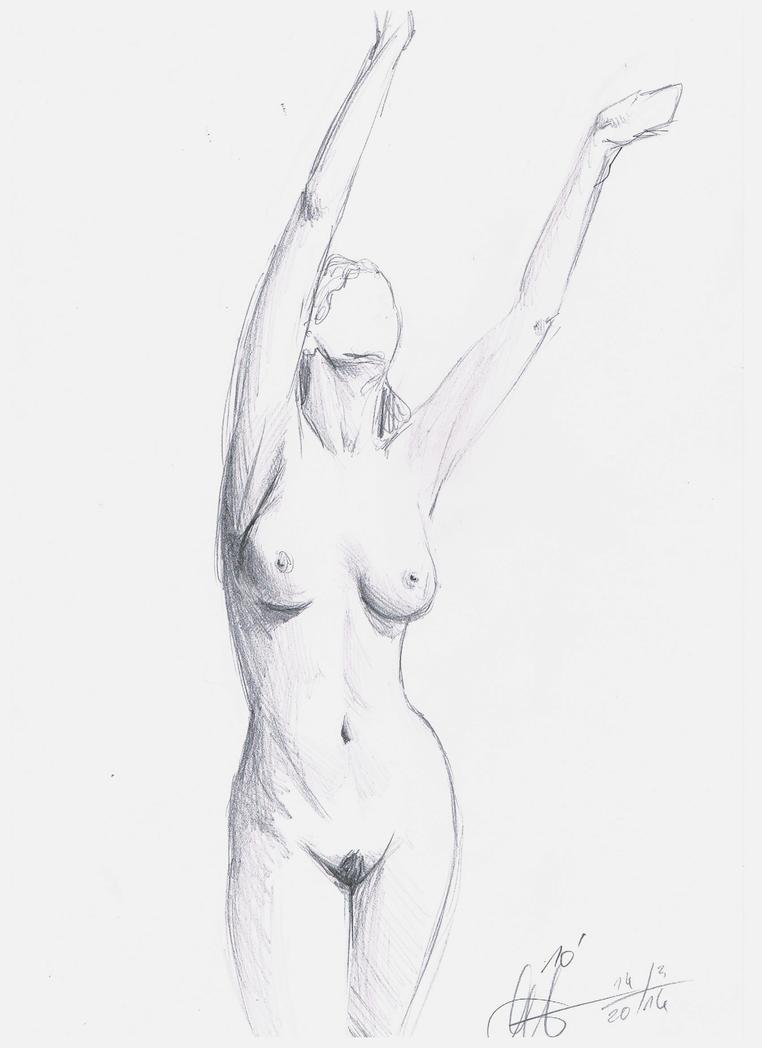 nude sketch 4 by DivianaAjatar