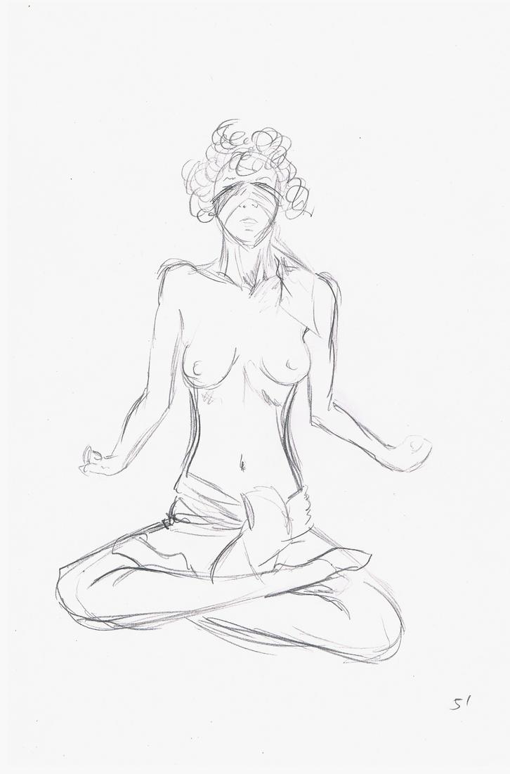 nude sketch 5 by DivianaAjatar