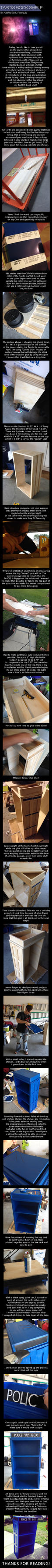 Tardis-book-shelf-creation-process by ZEROMaximusAurelius