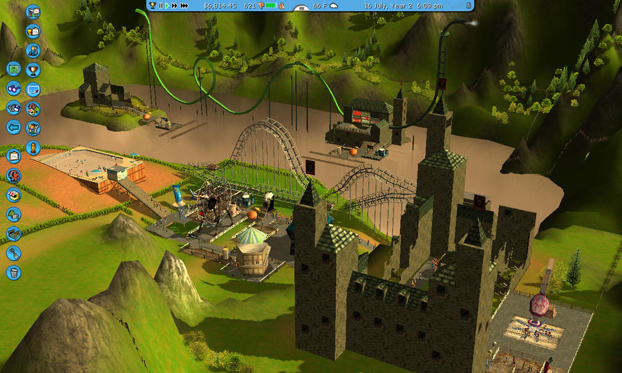 how to buy more land in rct3