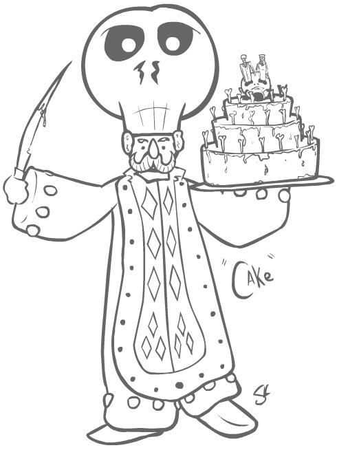 Happy Cake Man by senor-sausage