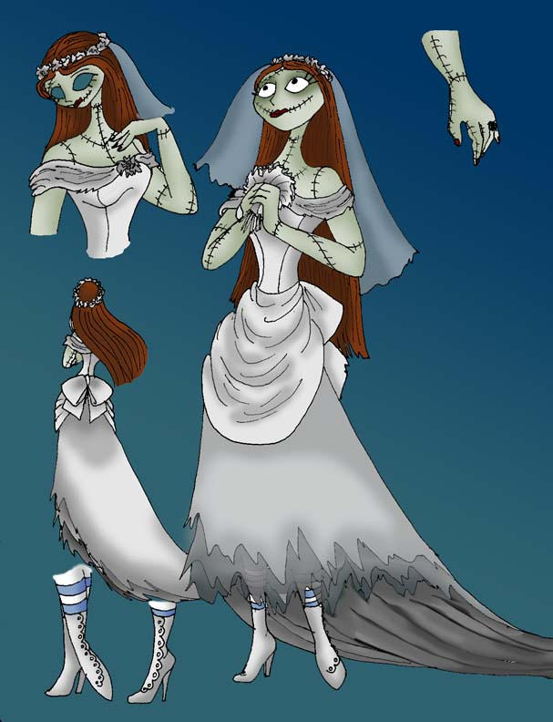 Sally Wedding Dress - Color by RubyOfTrinity on DeviantArt