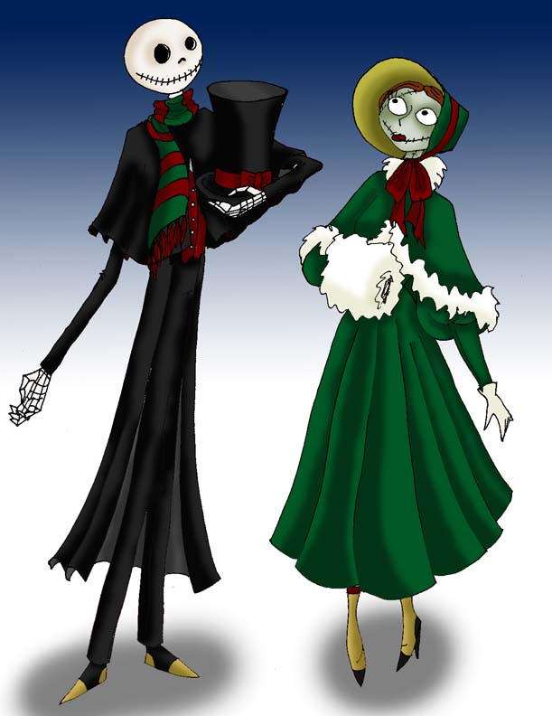 Dickens Jack and Sally by RubyOfTrinity