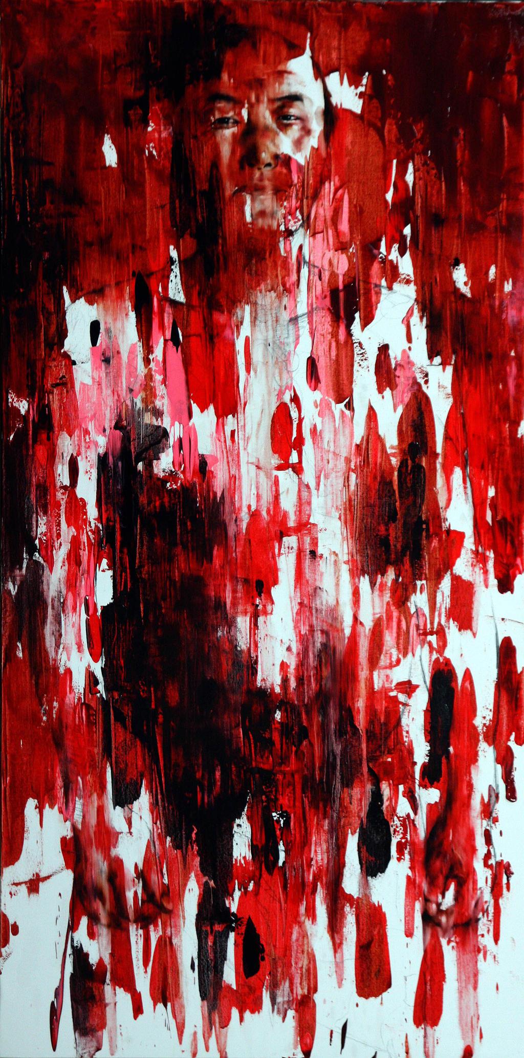 [54] Untitled Oil On Canvas 179.5 X 89.5 Cm 2013 by ShinKwangHo