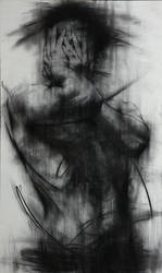[90] Untitled Charcoal  On Canvas 162 X 96 Cm 2013 by ShinKwangHo