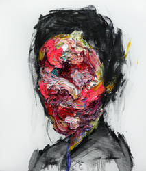 [96] Untitled Oil and Charcoal On Canvas 53.2 X by ShinKwangHo