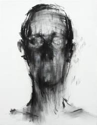 [106] Untitled Charcoal On Canvas 53.2 X 41 Cm by ShinKwangHo