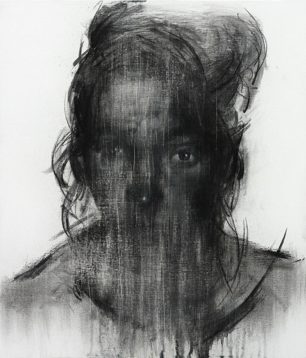 [113] Untitled Charcoal & Conte On Canvas 53.2 by ShinKwangHo