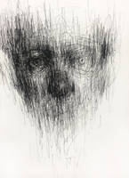 (14D03) untitled  pen on paper 25.3 x 18.3 cm by ShinKwangHo