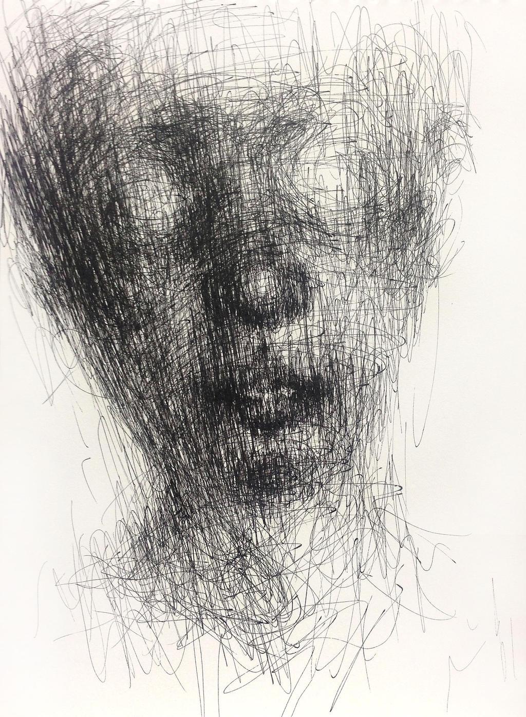 (14D04) untitled  pen on paper 25.3 x 18.3 cm by ShinKwangHo