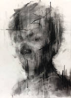 (14D05) untitled  conte on paper 25.3 x 18.3 c by ShinKwangHo