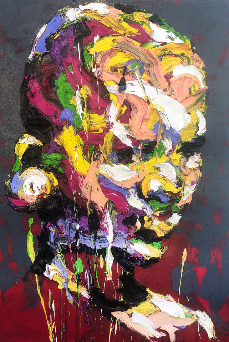 [18p29]  untitled oil on canvas 193.9 x 130.3 cm by ShinKwangHo